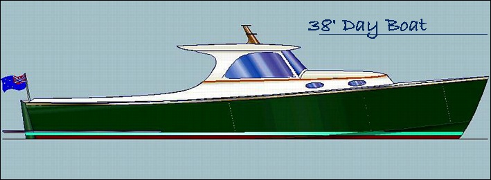 Classic power day boat by lidgard yacht design australia for Picnic boat plans