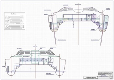 Lidgard Yacht Design 43 Ft Catamaran Multihull Study Plan