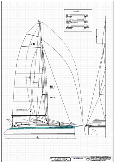 Stock monohull and multihull boat plans by Lidgard Yacht ...