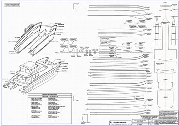 Lidgard Yacht Design Powered Multihull, 56 ft Power ...