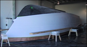 production monohull powerboat designs by Lidgard Yacht Design modern,classic and retro power boat design