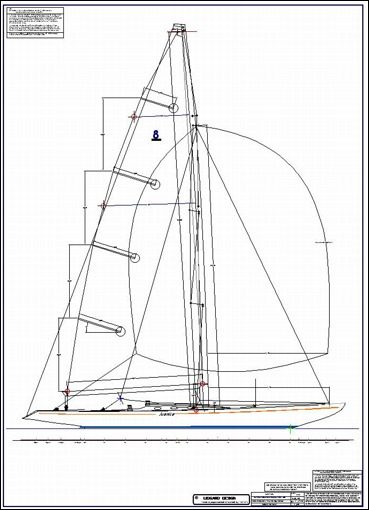 international eight meter yacht sail plan by lidgard yacht design australia