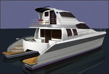 Lidgard multihull Design 56 ft power catamaran image
