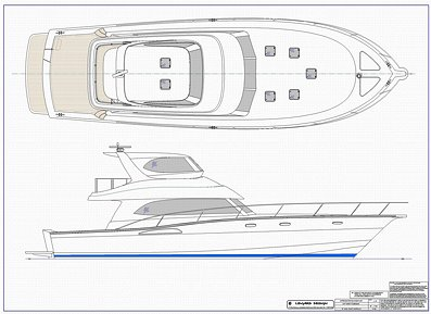 Outboard deck boat plans, small yachts interior