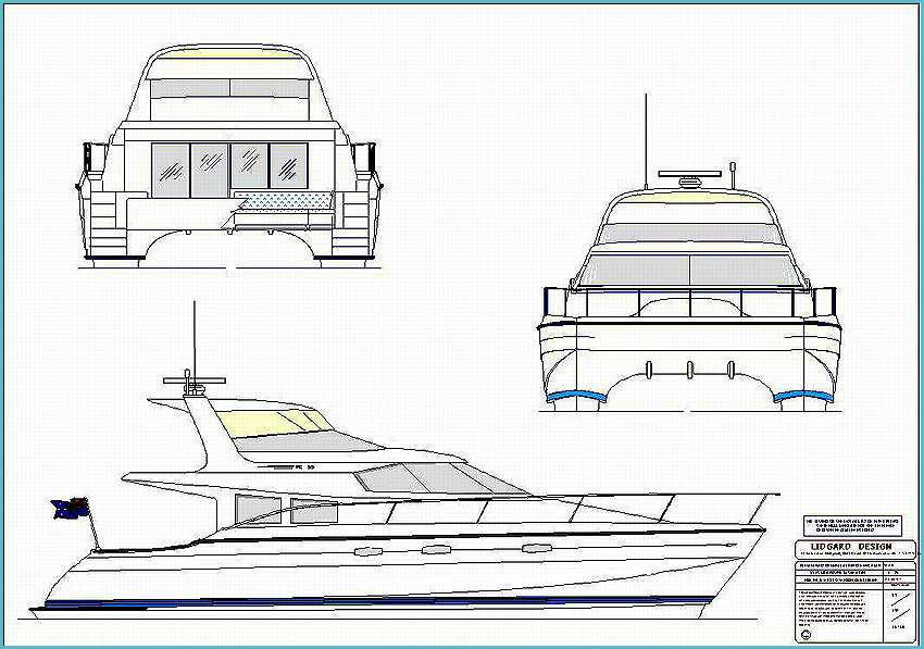 55 ft power catamaran by lidgard design australia