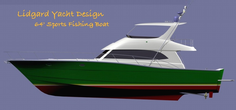 64 ft Sports Fishing Boat by Lidgard Yacht Design Australia.